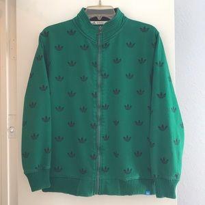Adidas Originals Green Zip-Up Jacket